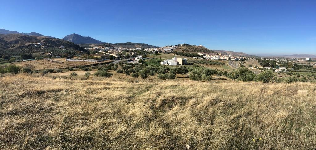 Vista de los Dólmenes desde el Cerro Marimacho